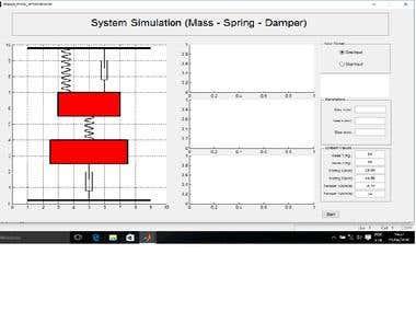 Mass, dumper and Spring Simulator in MalTlab