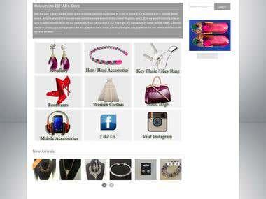 E-commerce website in Wordpress