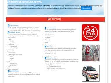 Hospital Website in Wordpress