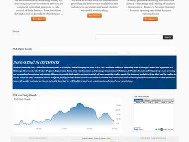 Stock Market Broker website in wordpress