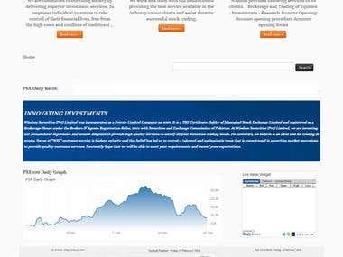 Stock Market Broker website in wordpress