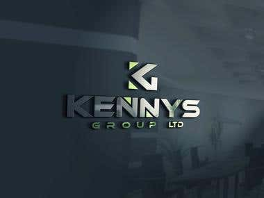 Logo design for Kennys Group Ltd