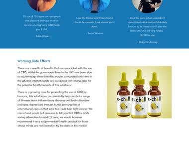 E-Commerce Parallax website