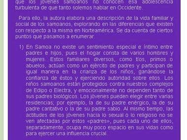 Screenshot of one of my blogs in Spanish