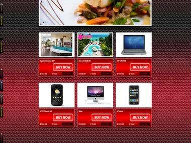 E-commerce website in opencart