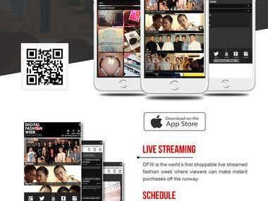 Digital Fashion Week - Singapore - iOS Aplication