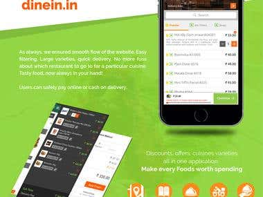 DineIn - Food Ordering App for iOS & Android