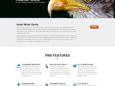 HOTEL MOTEL GENIE- PMS providing website