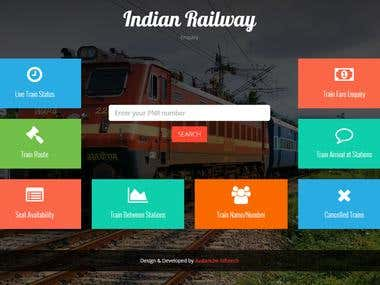 I have developed this train inquiry website