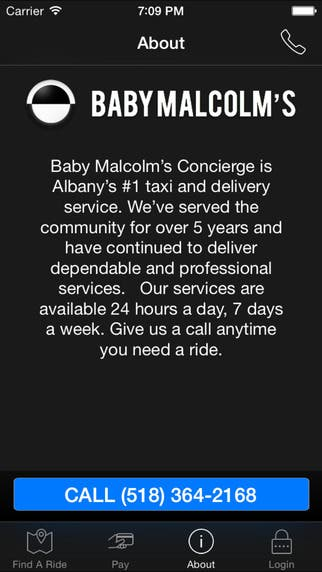 Baby Malcolm - Taxi Services based application
