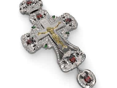 Ornamental cross (jewelry design)
