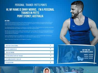 PSD Design of Fitness website
