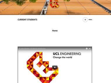 UCL Engineering minor options videos and Wordpress website