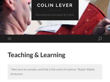 Wordpress website for author and educational consultant