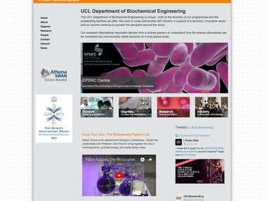 UCL Biochemical Engineering website redesign