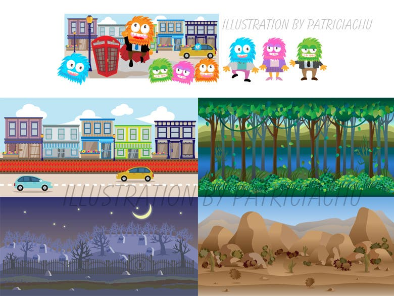 Game Design, Vector or Pixel Art, Character and Background