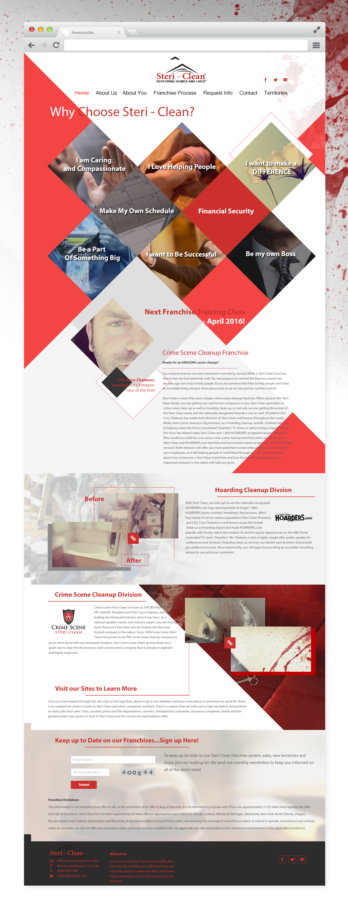 Redesign Home Page
