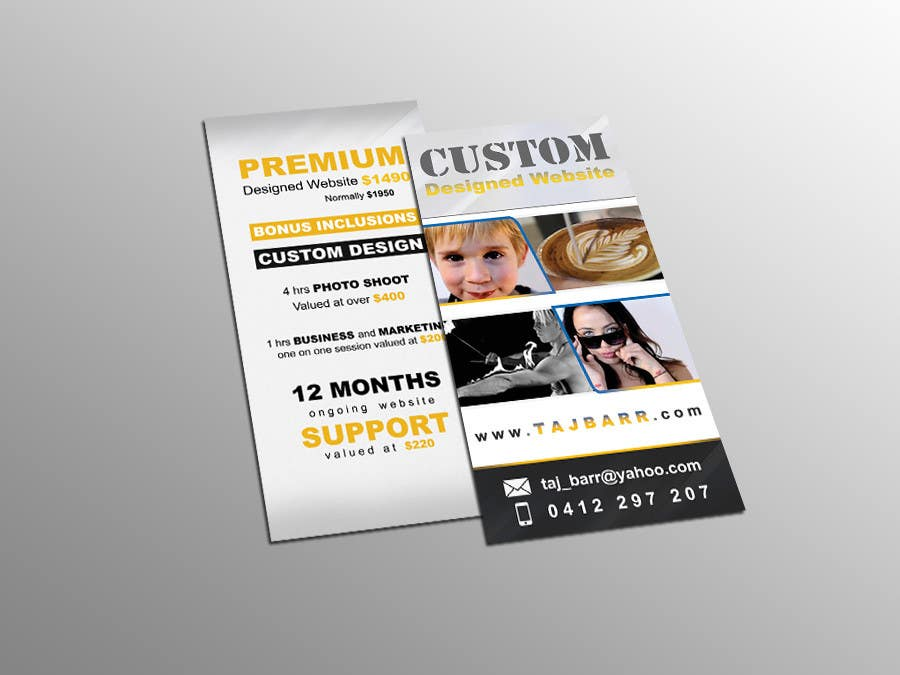 Design a Flyer for Website Design