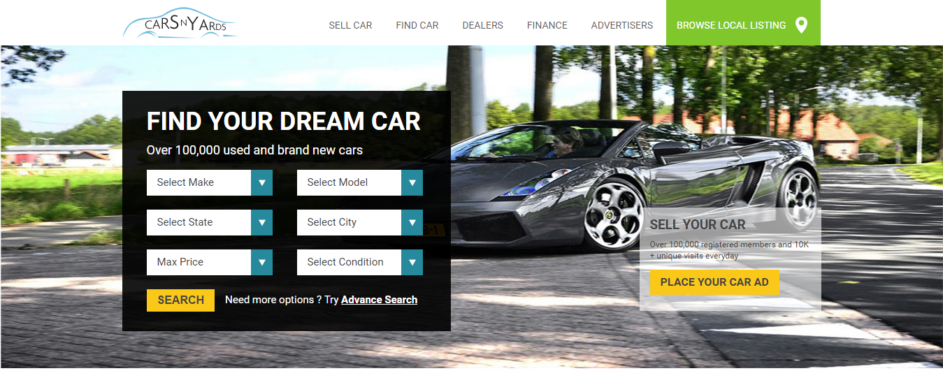 Cars Classified website using CakePHP