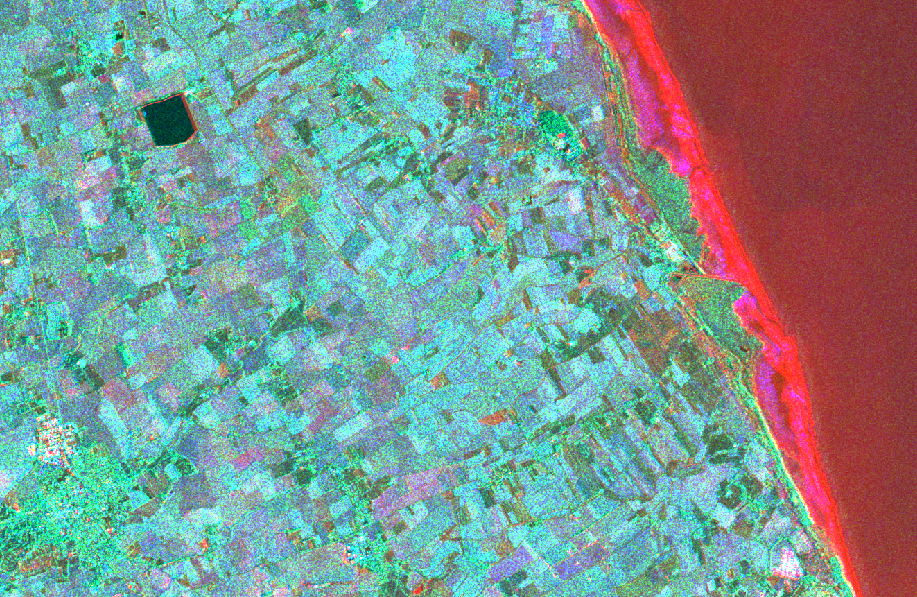 Satellite images merging
