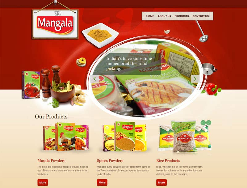 Mangala food website