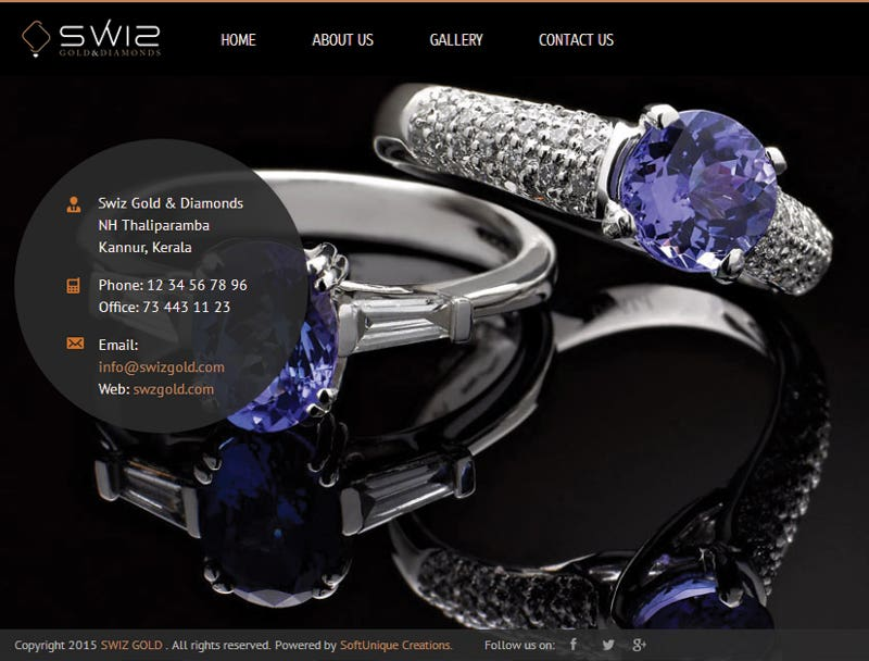 Swiz Gold Website