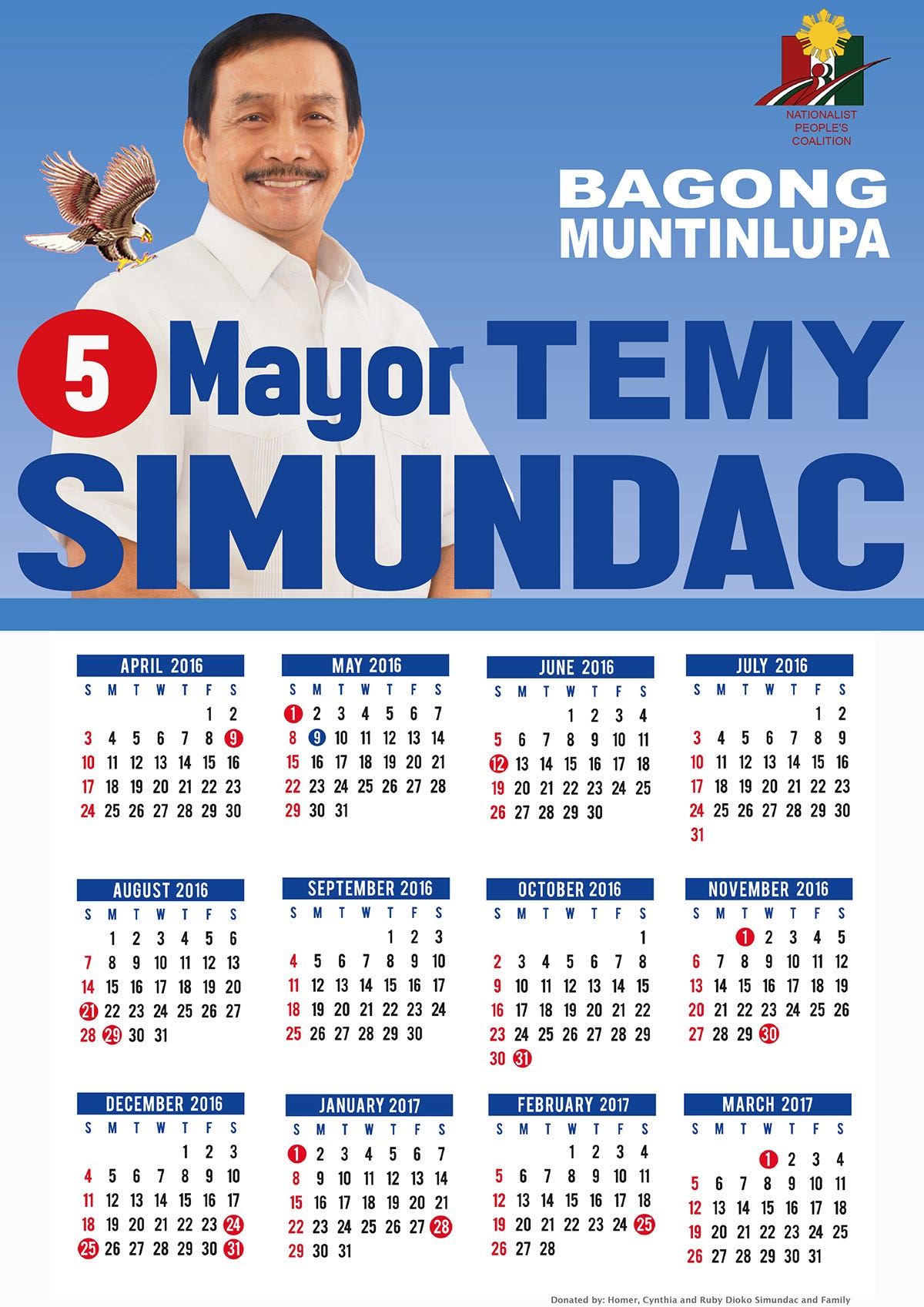 Calendar Layout for Election