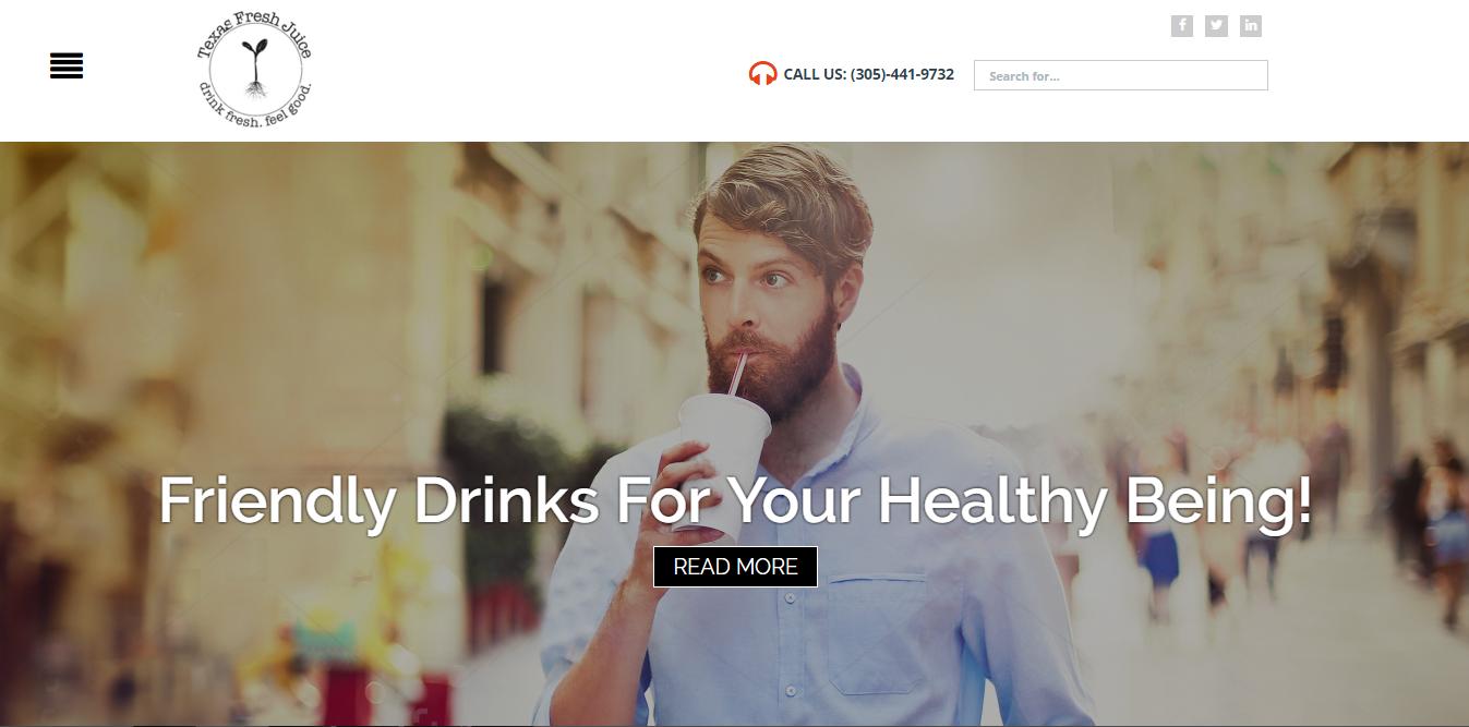 Juice Company Ecommerce Portal