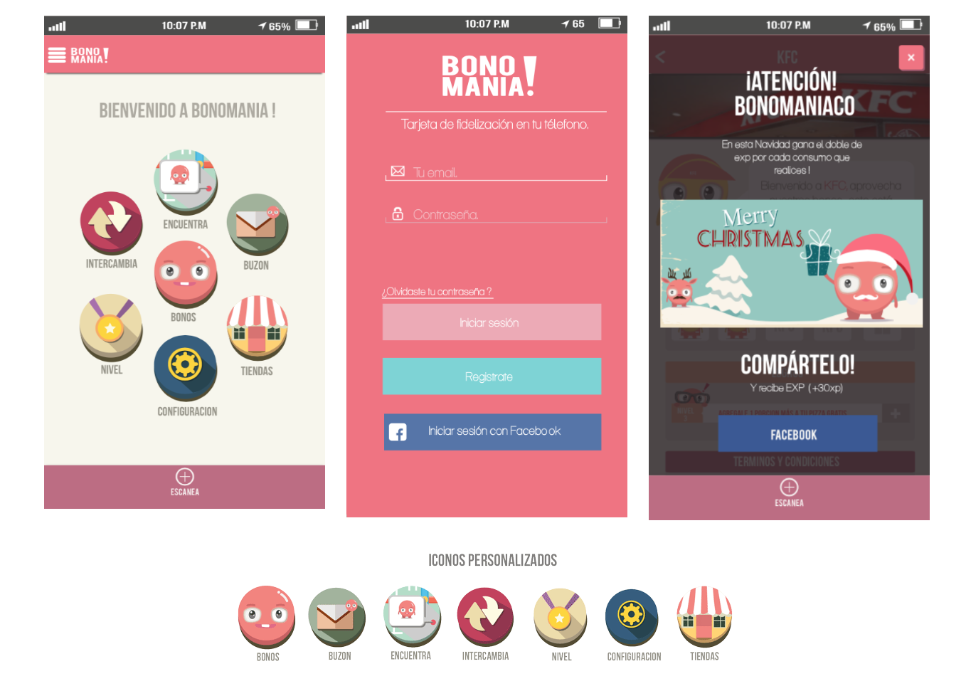 Design App / illustration BONOMANIA