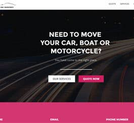 Transport Web Template