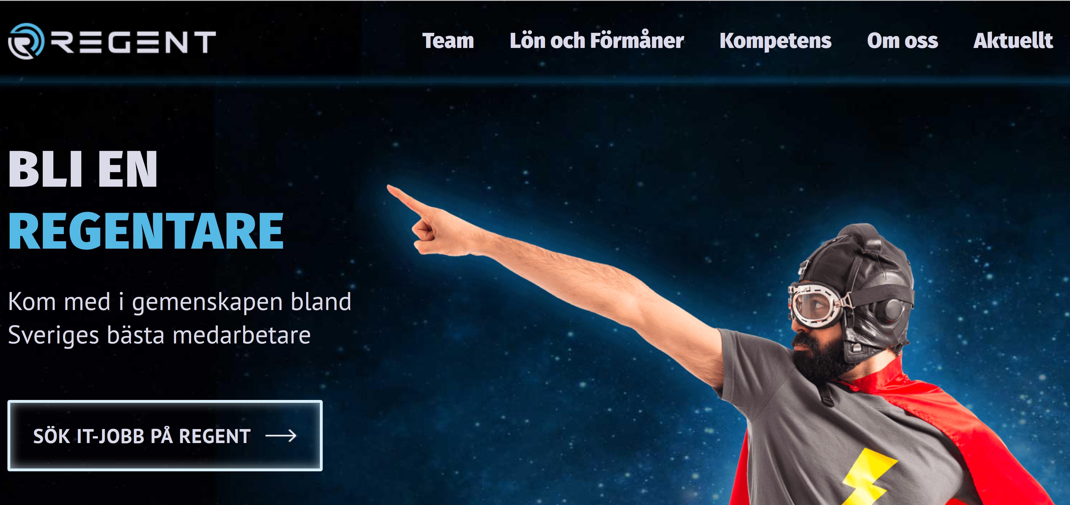 Recruitment portal for a swedish company