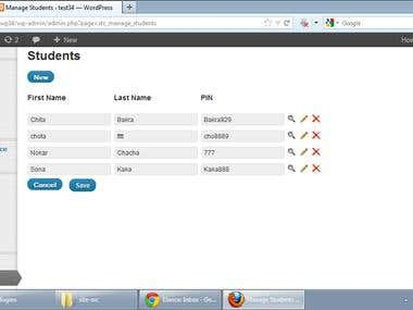 Student Time Clock A Wordpess Plugin
