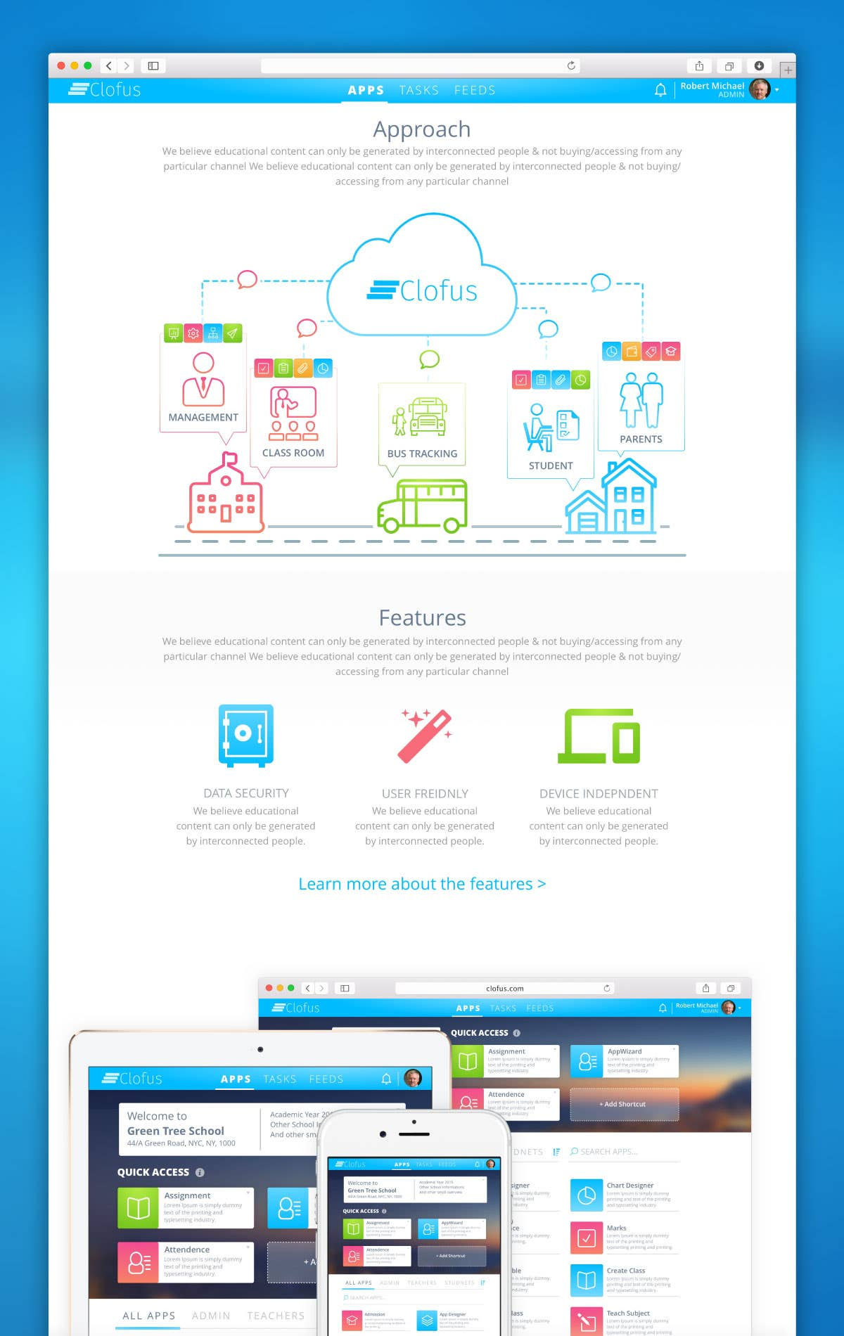 Clofus Landing Page