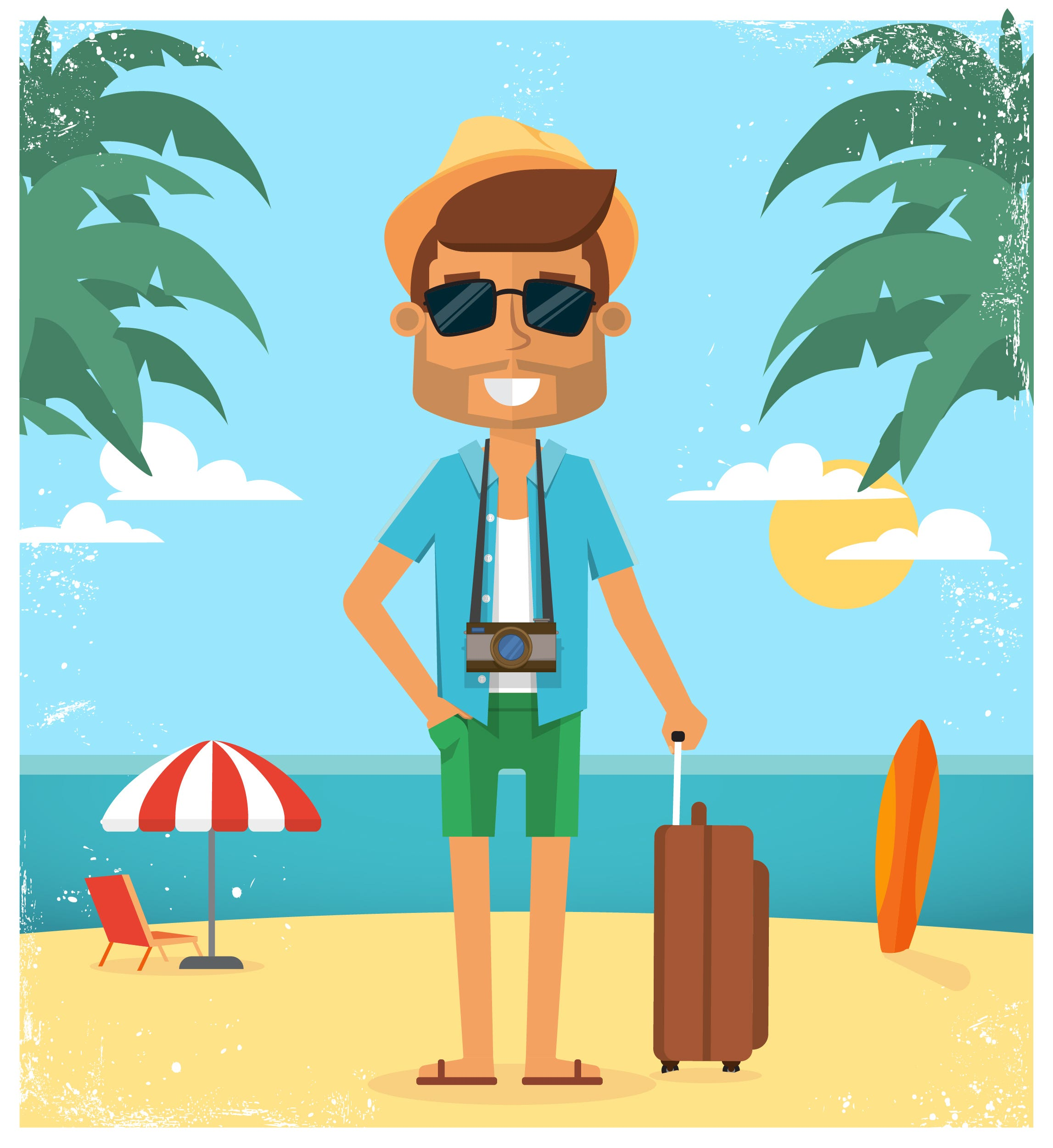 ummer vacation with character design. Vector illustration