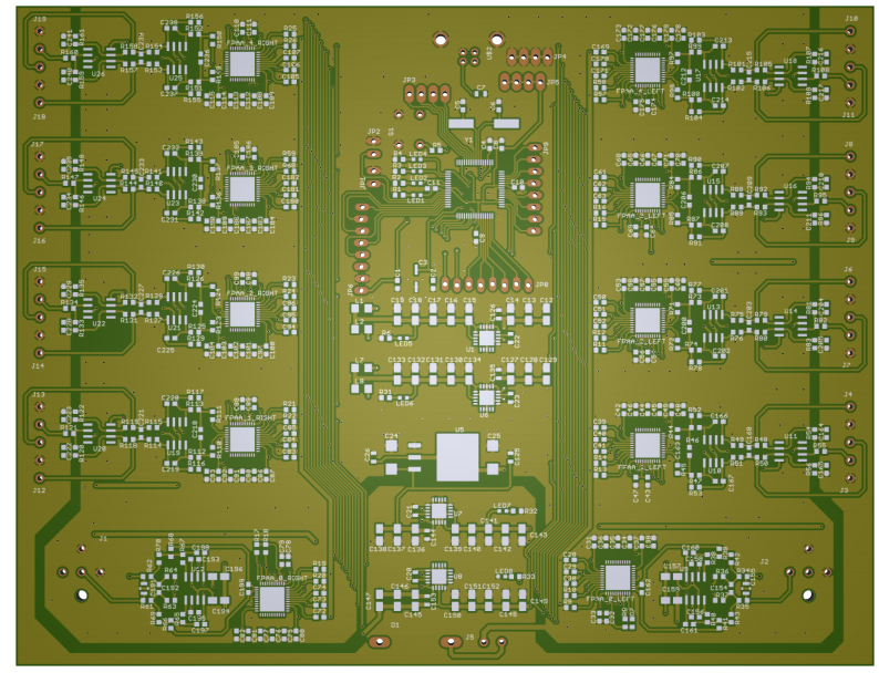 8-channel the converter analog signals using of analog proce