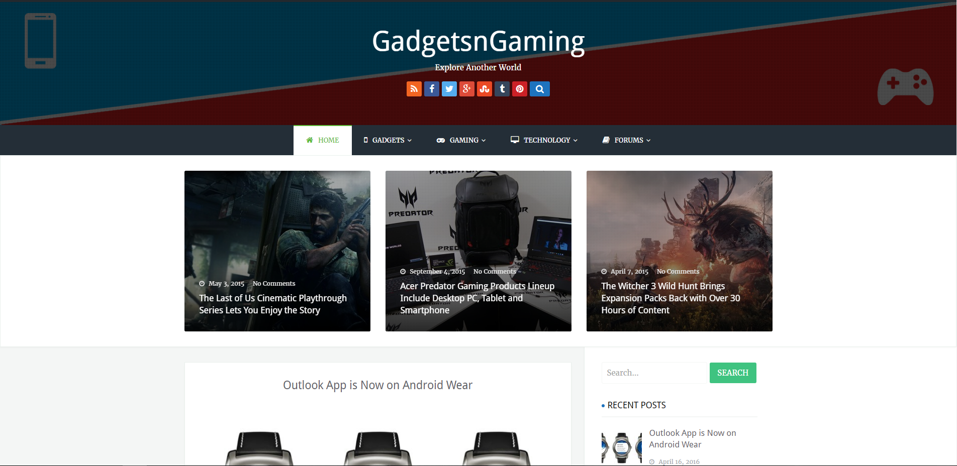 Professional Website Based on Gadgets and Games