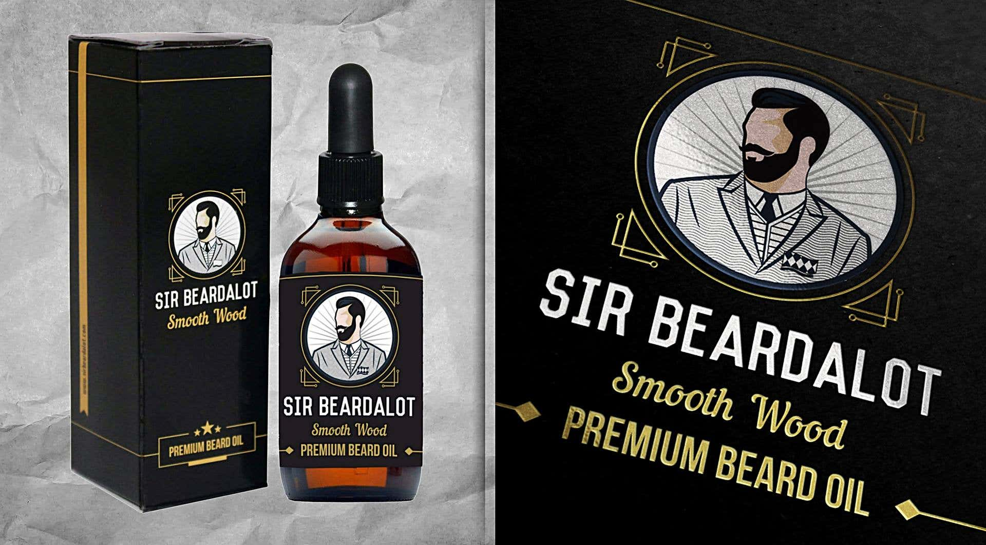 Logo, Label and Package design done for beard oil.
