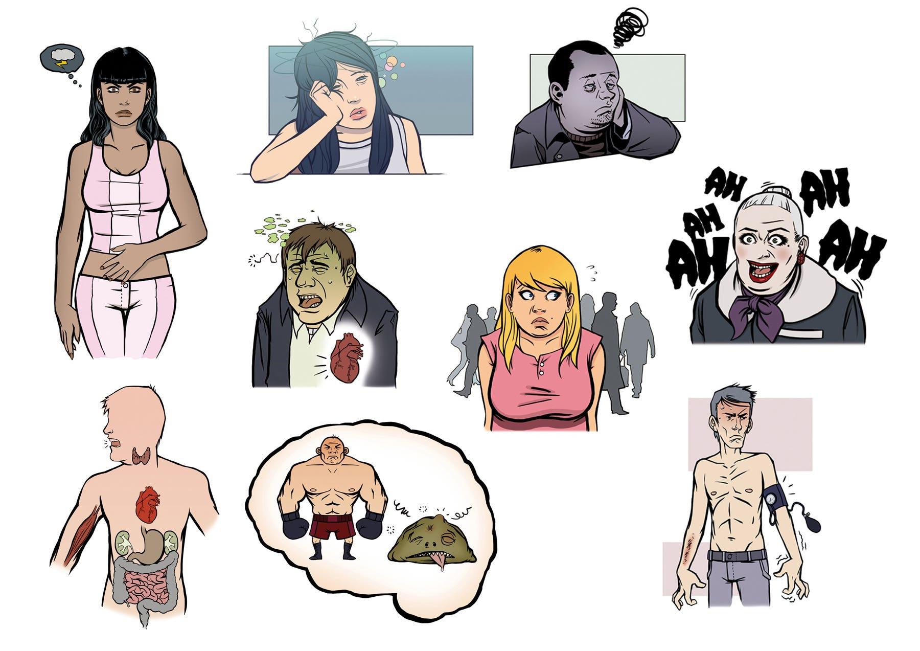 Medicilline illustrations (commission - medical book)