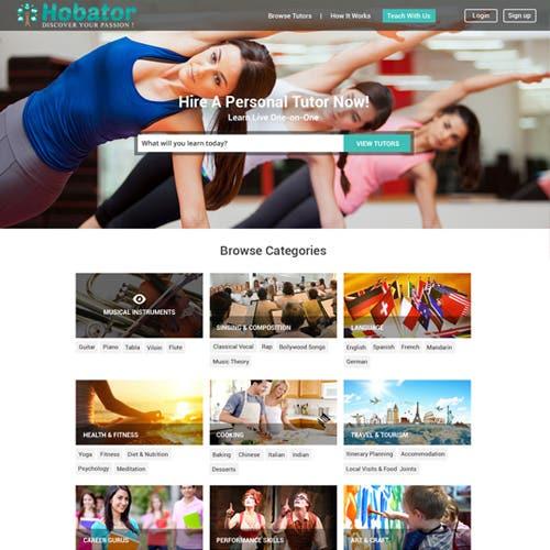 Online elearning portal.