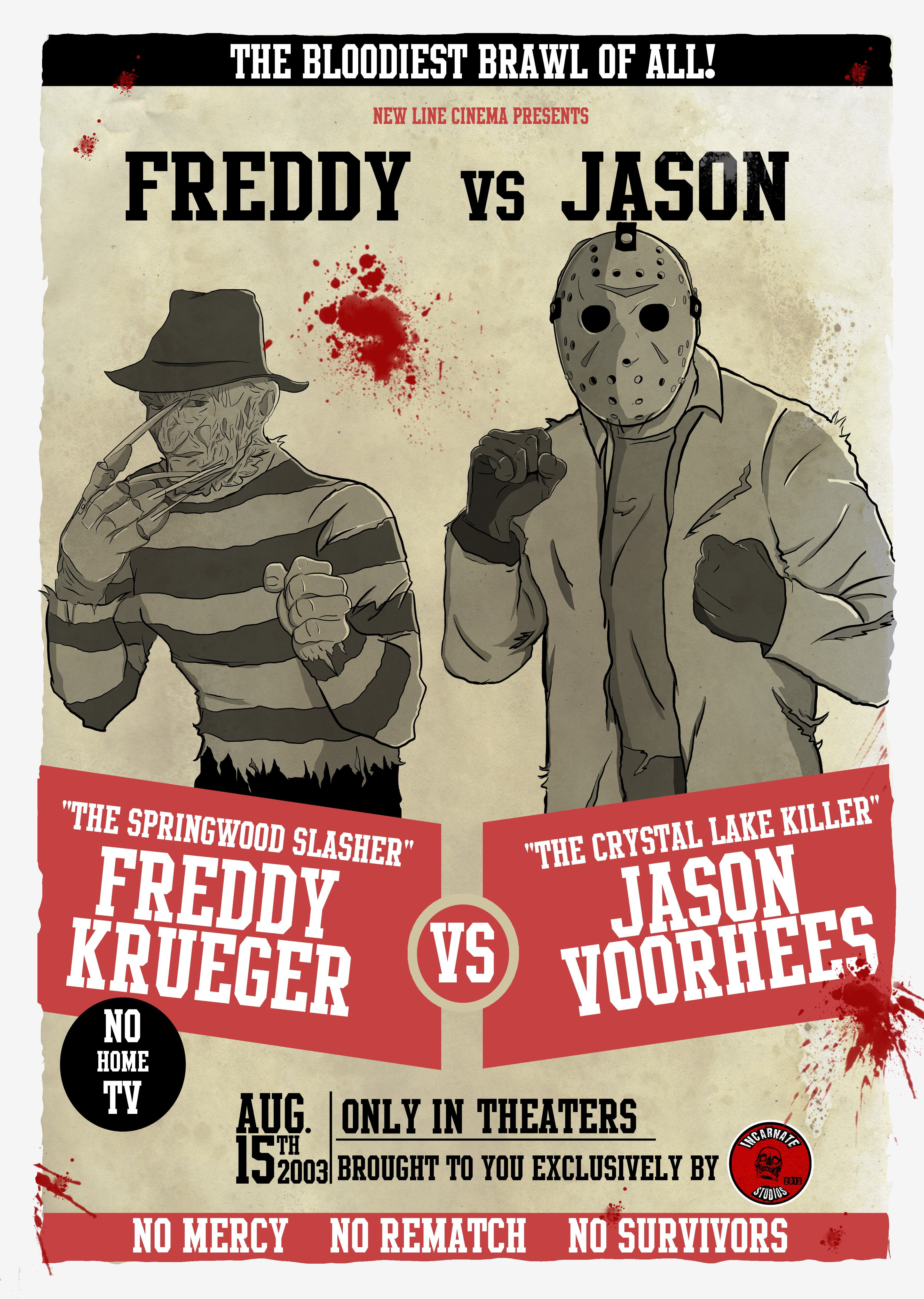 Freddy vs Jason Fight Poster