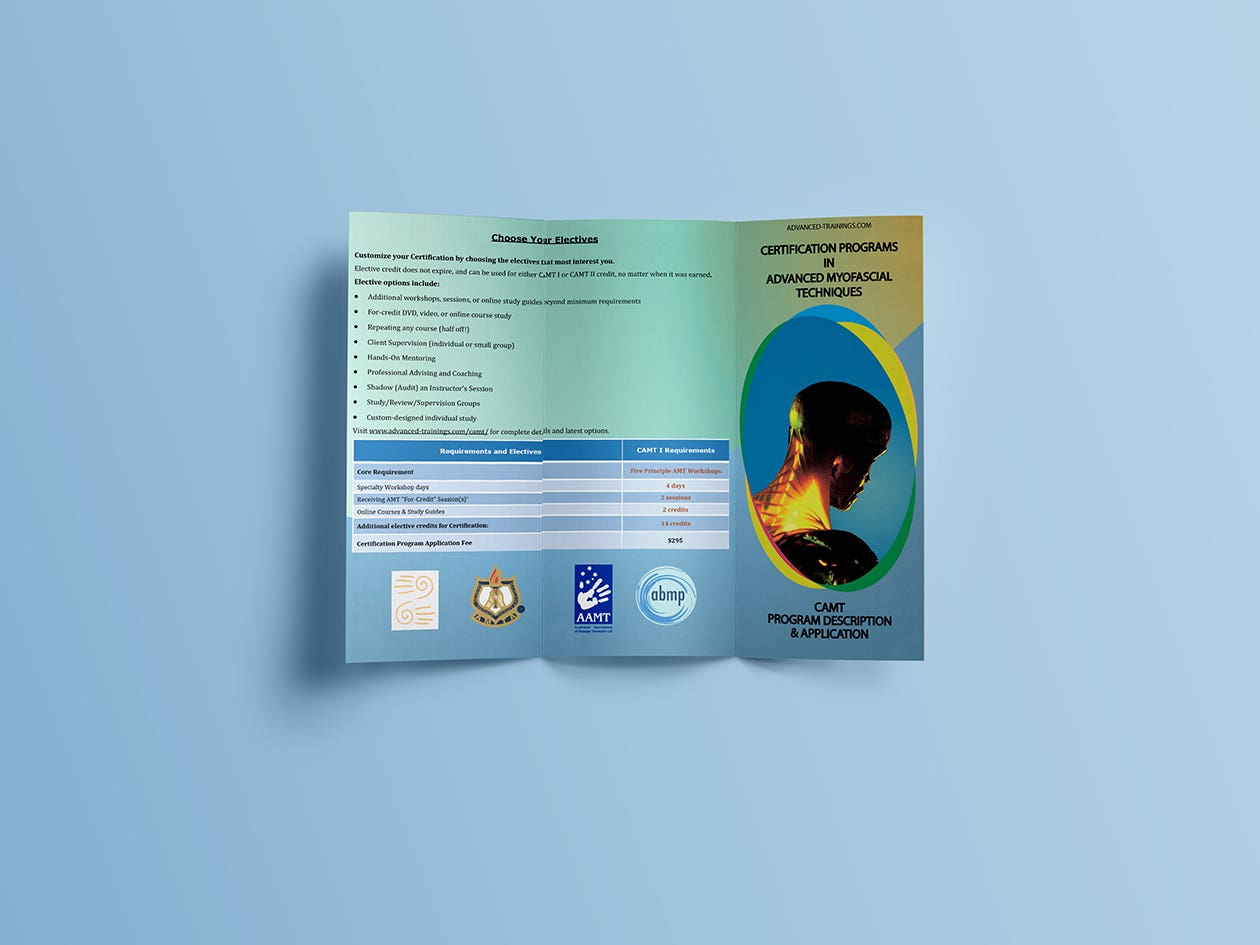 Design and lay out 3-fold brochure