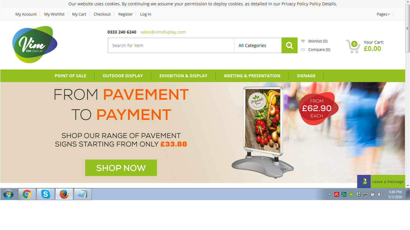 Another Magento ecommerce site