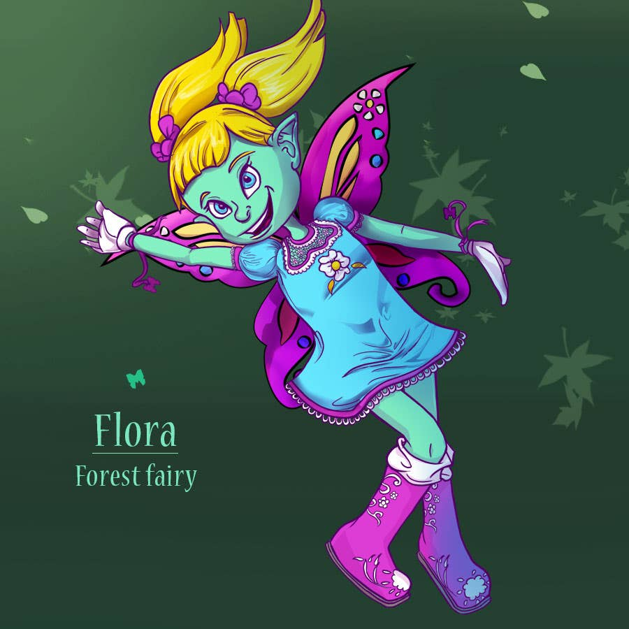 Illustration: Butterfly fairies collection