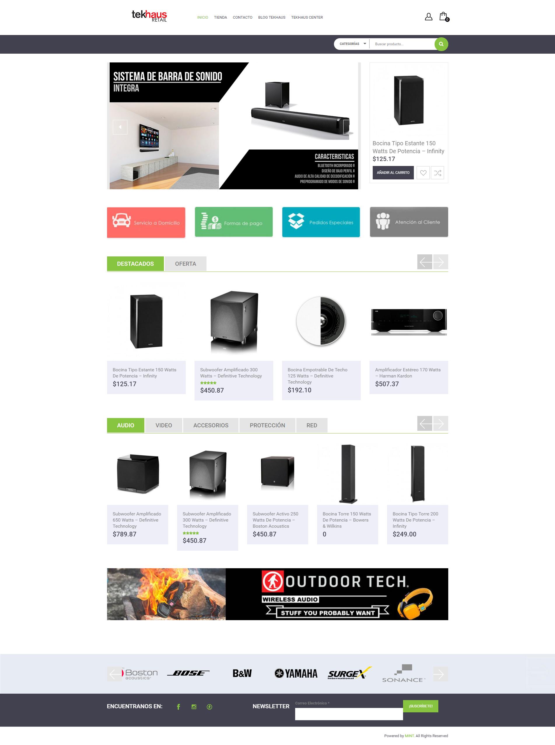 Tekhaus website - Store