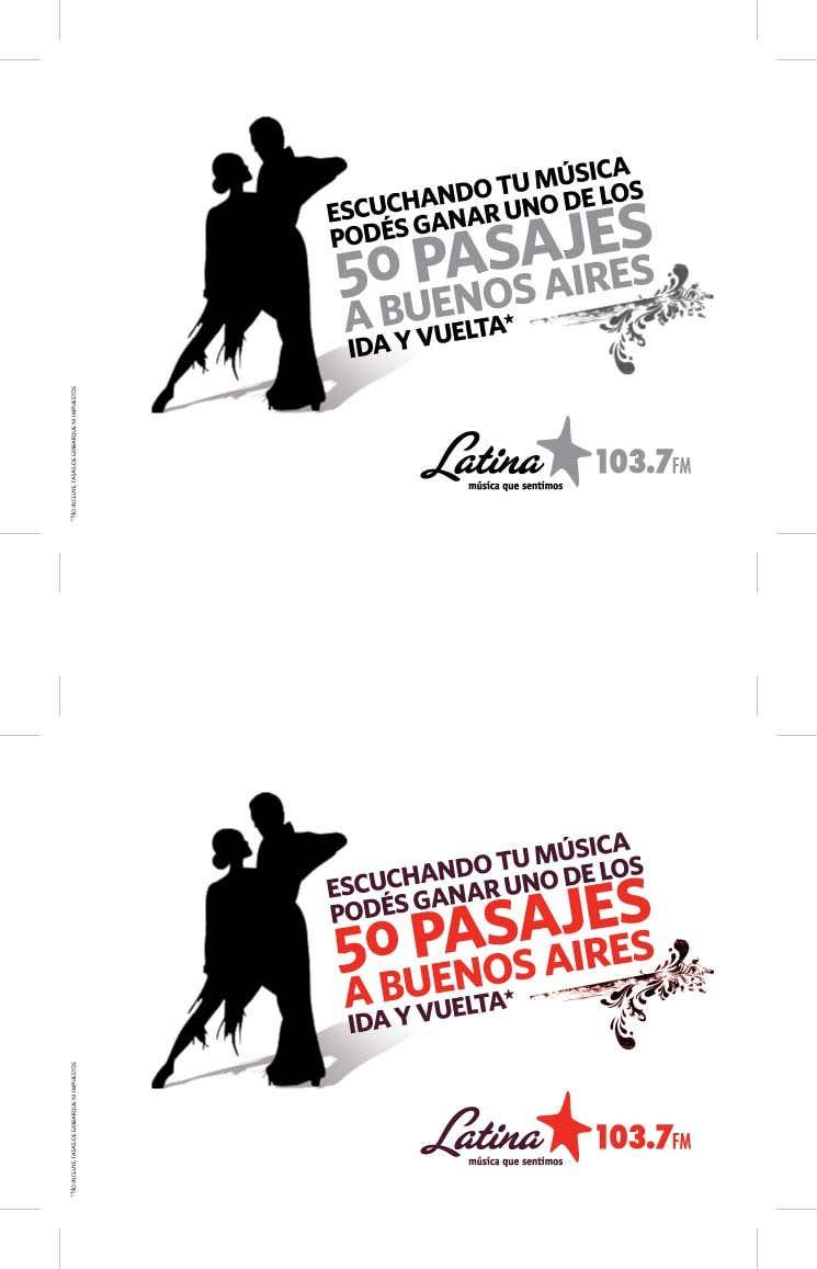Latina FM - Aviso promocional