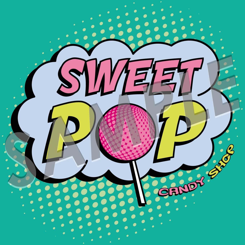 Identidad gráfica de Sweet Pop - CandyShop