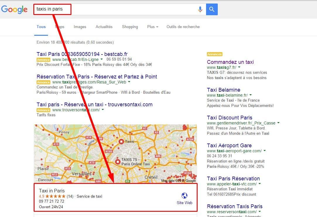 Google Local Search Ranking