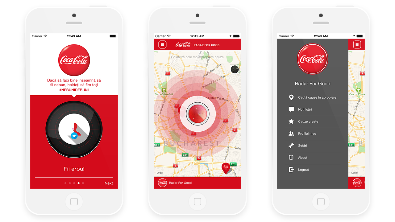Radar for Good - App for Coca Cola