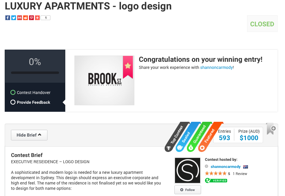 Brook St Corporate Identity