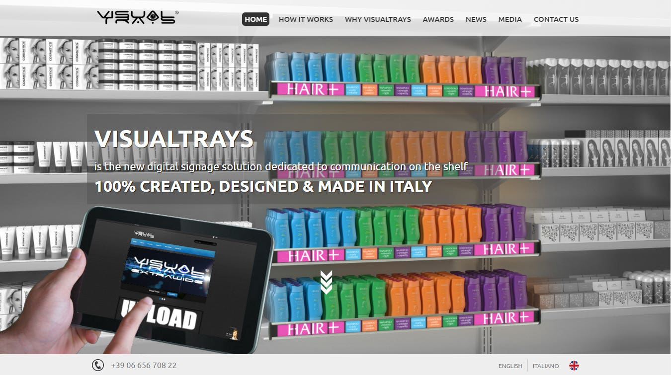 VisualTrays Website